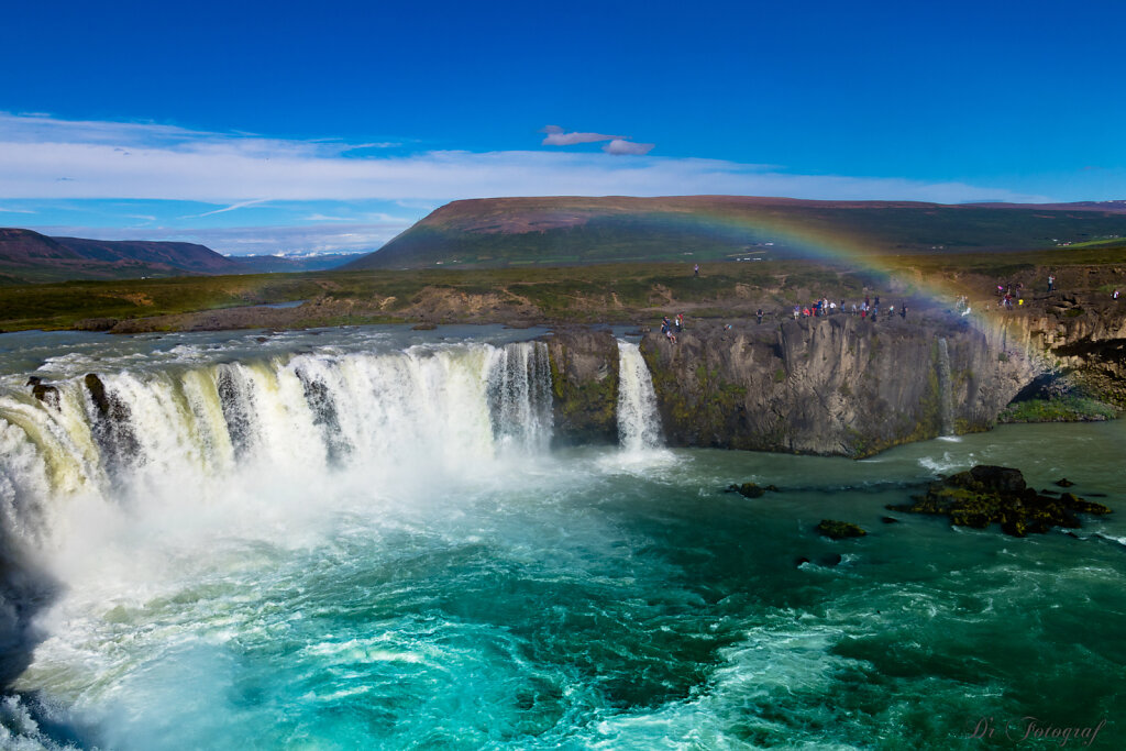 Goðafoss and Rainbow